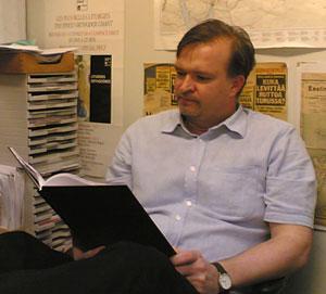 Vartijan päätoimittaja Mikko Ketola. Kuva: Mikko Ketola.