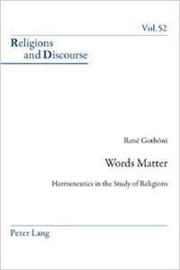 René Gothónin teoksen Words Matter kansi.
