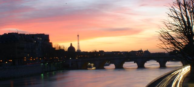 Maisema Pariisista, Seinen rannalta.