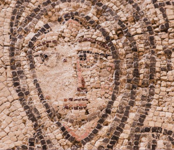 Mosaiikki teoksen Others and the Construction of Early Christian Identities kansikuvassa.