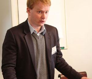Priit Rohtmets luennoimassa Tarton yliopistossa. Kuva: Mikko Ketola