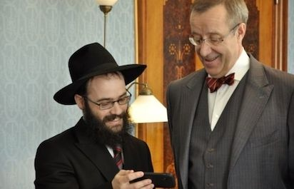 Rabbi Shmuel Kot ja Viron presidentti Toomas Hendrik Ilves.