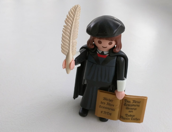 Luther Playmobil-figuurina.