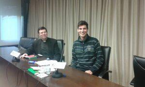 utsun Navarraan esitti dogmatiikan apulaisprofessori Pablo Blanco. Blanco vasemmalla. Kuva: Emil Anton.