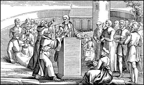 Moniäänisyys voi olla terveydelle vaarallista. Kuva: Foxe's Book of Martyrs.