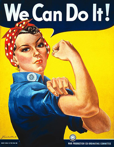 We Can Do It! -juliste. Kuva: Wikimedia Commons