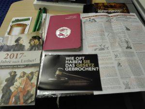 Uskonnollista propagandaa Wittenbergissä. Kuva: Emil Anton.