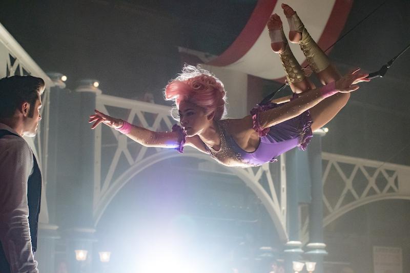 Trapetsitaiteilijaa esittää amerikkalainen näyttelijätär ja laulaja Zendaya. Kuva: Niko Tavernise / Twentieth Century Fox.