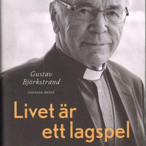 John Vikström elämäkertateoksen kannessa. Kirjan kirjoitti Gustav Björkstrand.