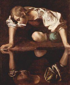 Michelangelo Caravaggio: Narkissos (1599).