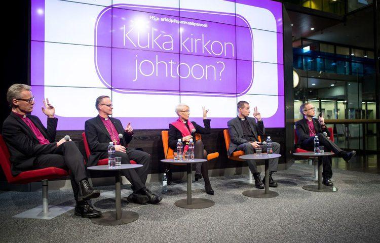 Arkkipiispanvaalipaneeli Helsingissä. Kuva: Kirkon kuvapankki/Markku Pihlaja.