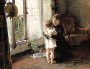 Helene Schjerfbeck: Äiti ja lapsi.