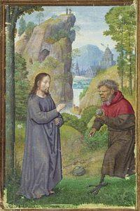 Simon Beningin maalaus Kristuksen kiusaus, 1500-luku. Kuva: Wikipedia/Creative Commons.