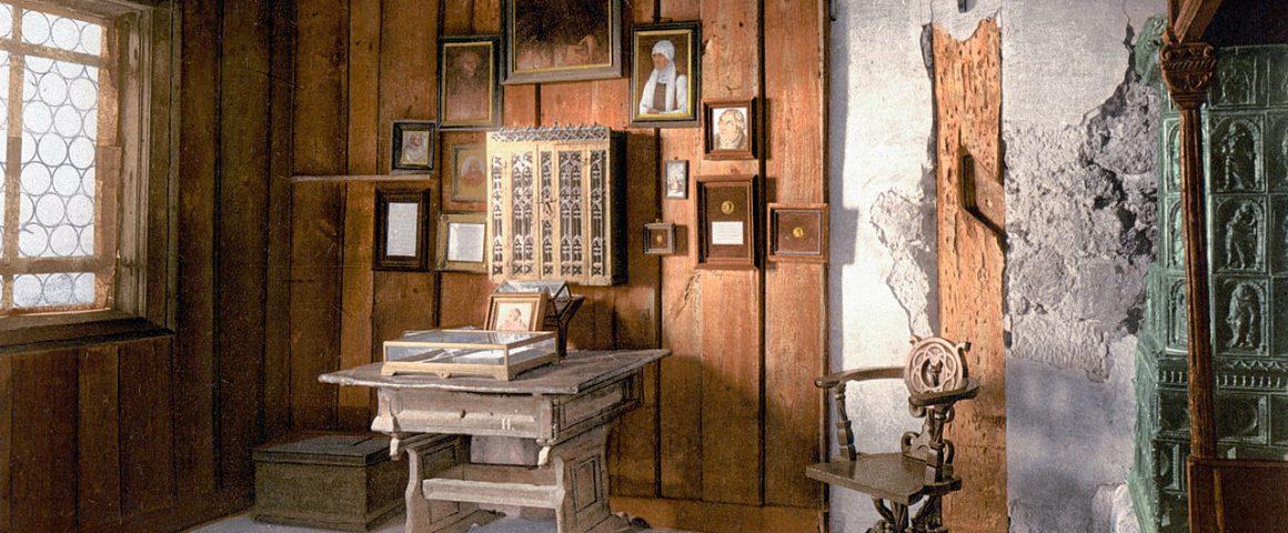 Lutherin työhuone Wartburgin linnassa. Kuva: Wikipedia/Creative commons.