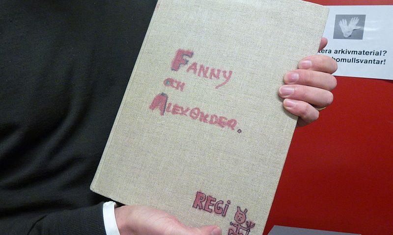 Fannyn ja Alexanderin käsikirjoitus Bergman-arkistossa. Kuva: Wikipedia.