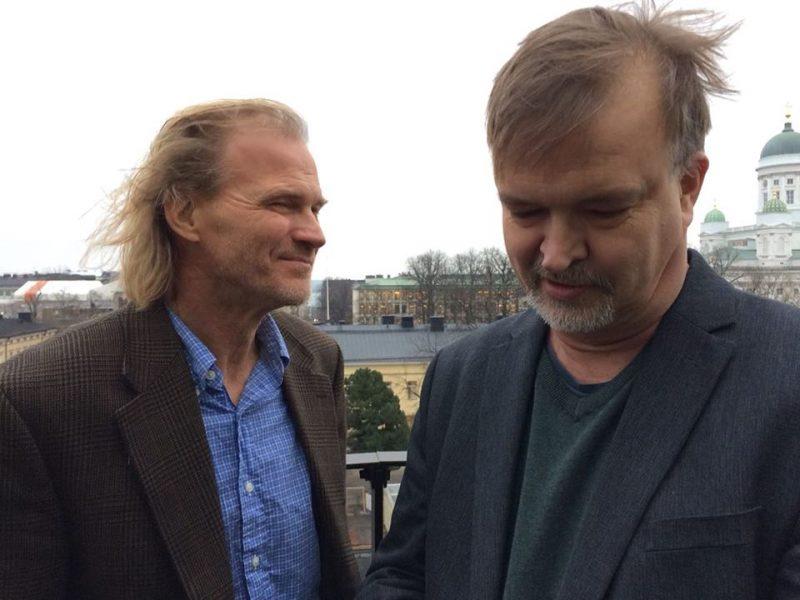 Vartijan päätoimittajat Matti Myllykoski ja Mikko Ketola. Kuva: Hanna-Maija Ketola.