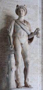 Hermeneutiikalla on yhteys kreikkalaisen Hermes-jumalan nimeen. Kuva: Wikipedia.
