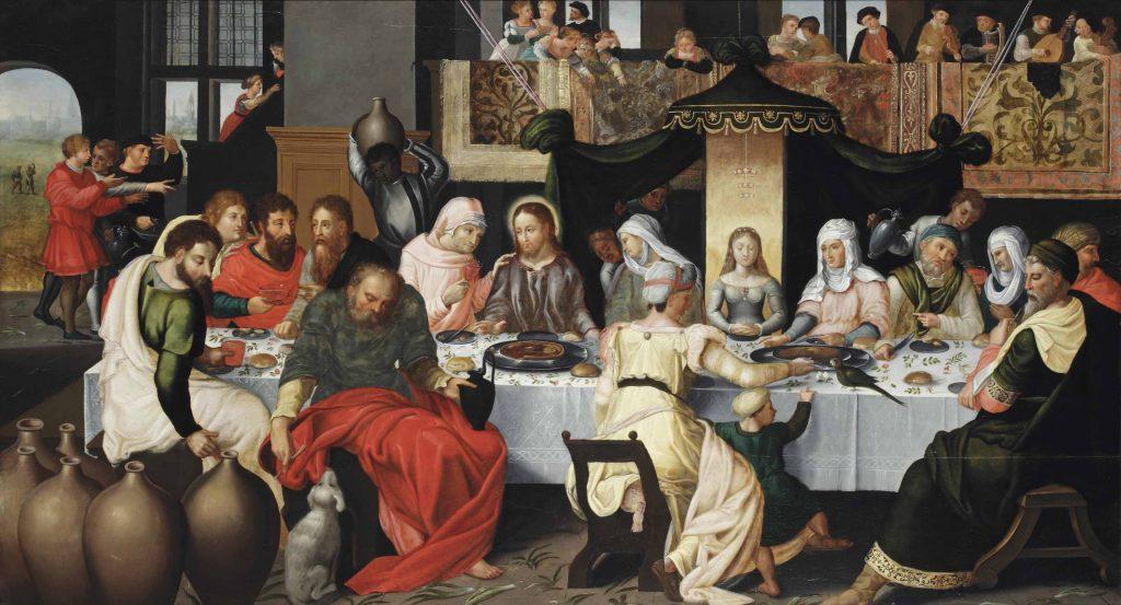 Kaanan häät. Tuntematon flaamilaisen koulukunnan edustaja 1500-luvulta. Kuva: Wikipedia.