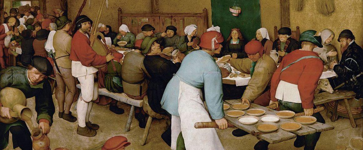 Pieter Brueghel vanhemman maalaus Talonpoikaishäät (1568). Kuva: Wikipedia.
