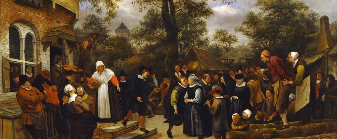 Jan Steenin maalaus Kylähäät vuodelta 1653. Kuva: Wikipedia.