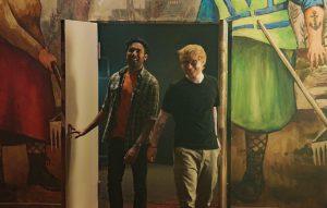 Jack Malik ja Ed Sheeran valmistautuvat esiintymään Moskovassa. Kuva: UpiMedia.