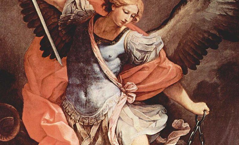 Guido Renin maalaus Arkkienkeli Mikael. Kuva: Wikipedia.