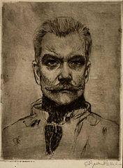 Aleksi Gallen-Kallela, omakuva. Kuva: Wikipedia.