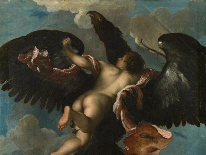 Damiano Mazzan maalaus Ganymeden raiskaus.