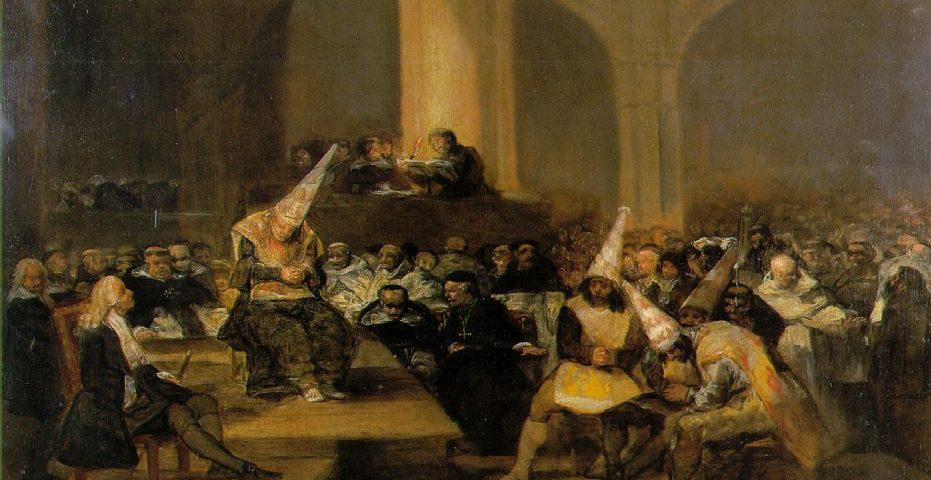 Francisco Goyan maalaus inkvisition toiminnasta. Kuva: Wikipedia.