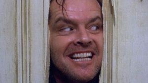 Jack Nicholson Stanley Kubrickin Hohdossa. Kohtaus elokuvasta.