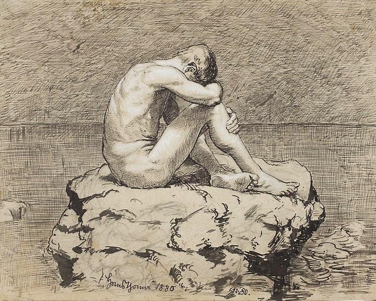 Hans Thoman teos Yksinäisyys. Kuva: Wikipedia.