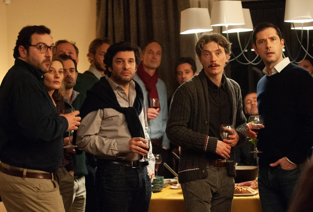 Uhrien oma seurakunta. Oikealta Alexandre (Melvil Poupaud), Emmanuel (Swann Arlaud), vasemmalla Francois (Denis Ménochet). Kuva: Cinema Mondo/Kinghill.