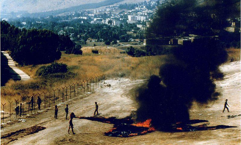 Joshua Neusteinin valokuva Still Life On The Border (1983). Lähde: Wikipedia.