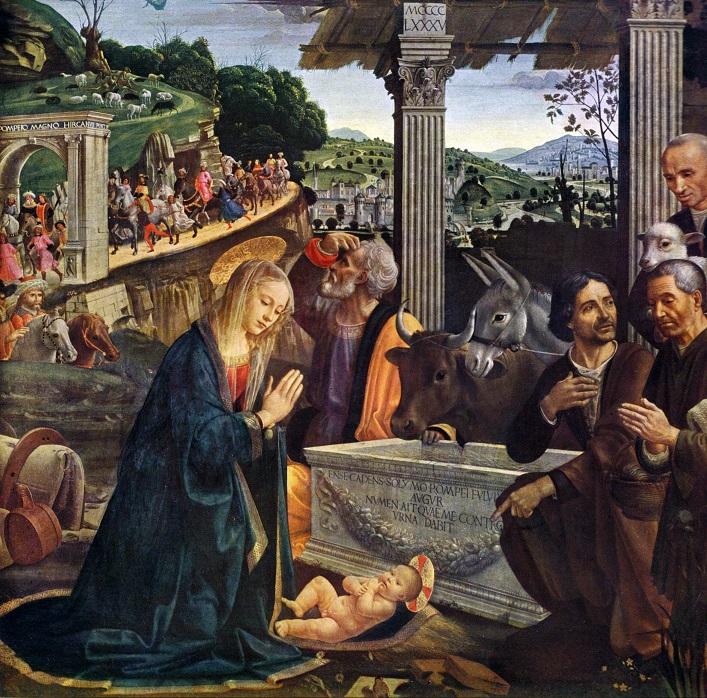 Domenico Ghirlandaio: Paimenten kumarrus.