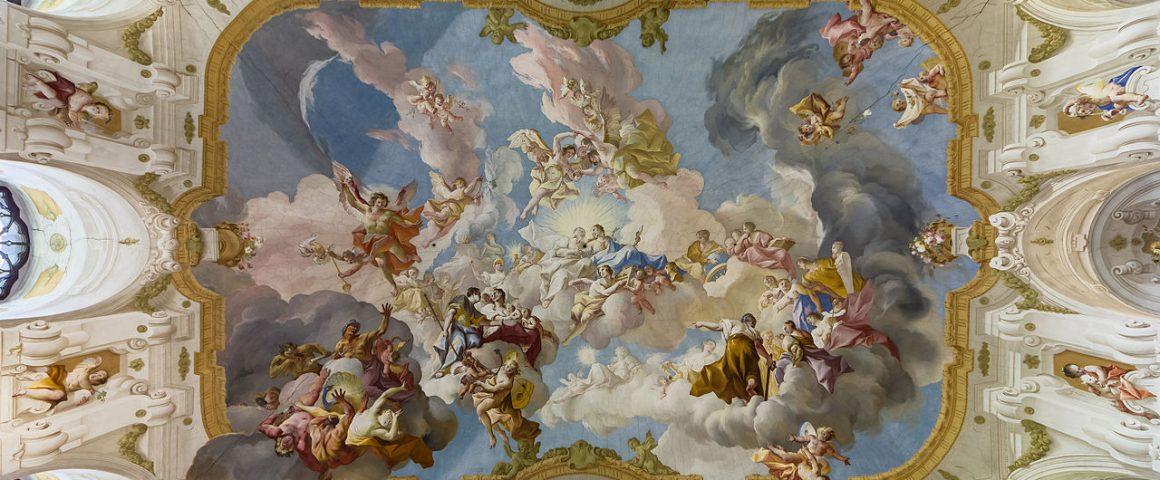 Paul Troger, Harmonia uskonnon ja tieteen välillä (1735). Kuva: Wikipedia.