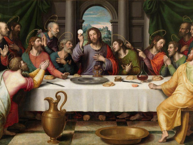 Juan de Juanesin maalaus viimeinen ehtolllinen (1500-luku). Kuva: Wikipedia.