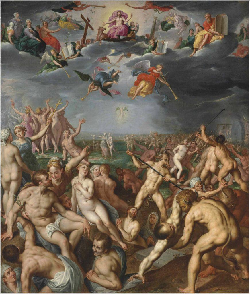 Viimeinen tuomio Jacob de Backerin mukaan (1500-luku