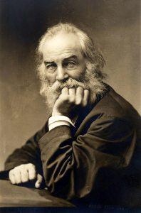 Runoilija Walt Whitman kuului Brunon patsashankkeen tukijoihin. Kuva: Wikipedia.