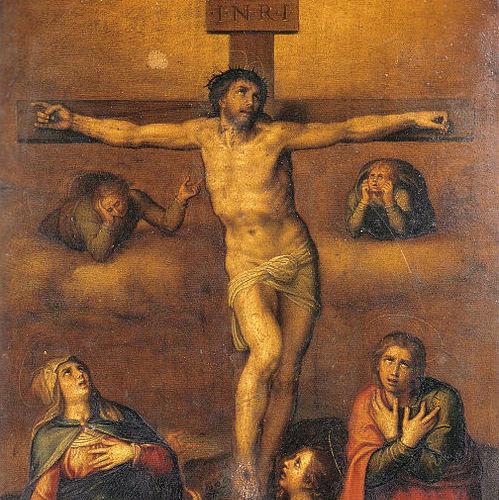 Jeesuksen ristiinnaulitseminen. Kuva: Wikipedia.