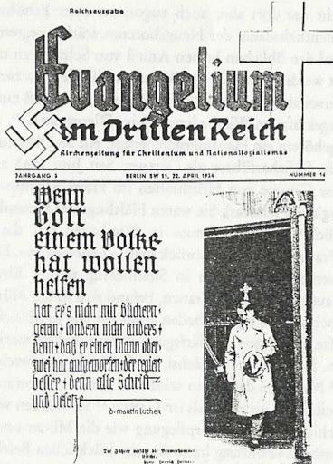 Hitlerin evankeliumi kolmannessa valtakunnassa.