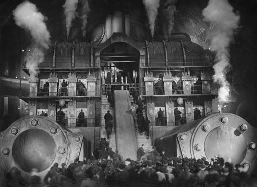 Kohtaus Metropolis-elokuvasta.