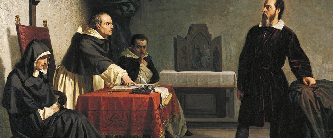 Galileo inkvisition edessä. Cristiano Banti 1857. Kuva: Wikipedia.