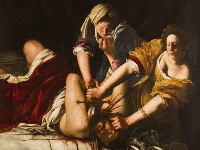 Artemisia Gentileschi: Judith katkaisee Holoferneen pään, 1620.