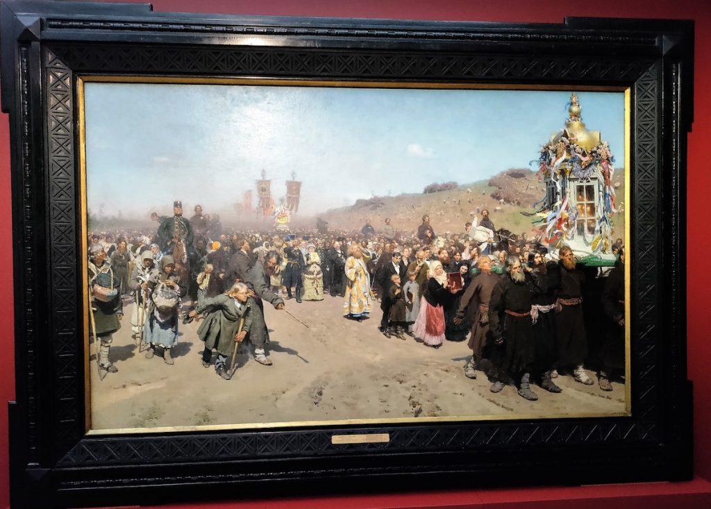 Ilja Repin: Ristisaatto Kurskin kuvernementissa (1881-1883). Kuva: Hannu Kuosmanen.