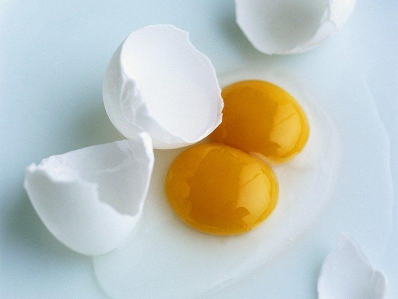 Särkyneet munat.