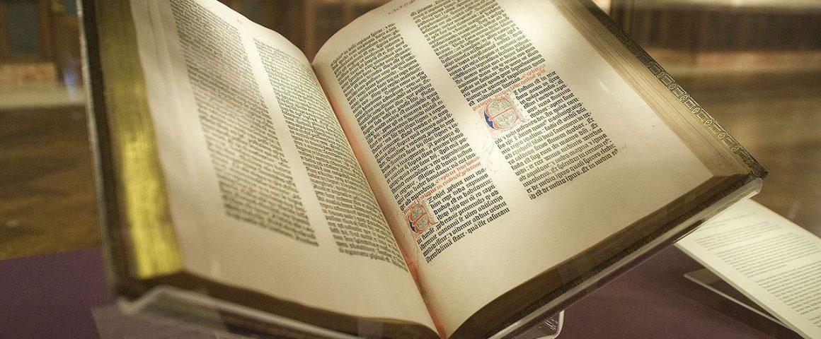 Gutenbergin Raamattu. Kuva: Wikipedia.