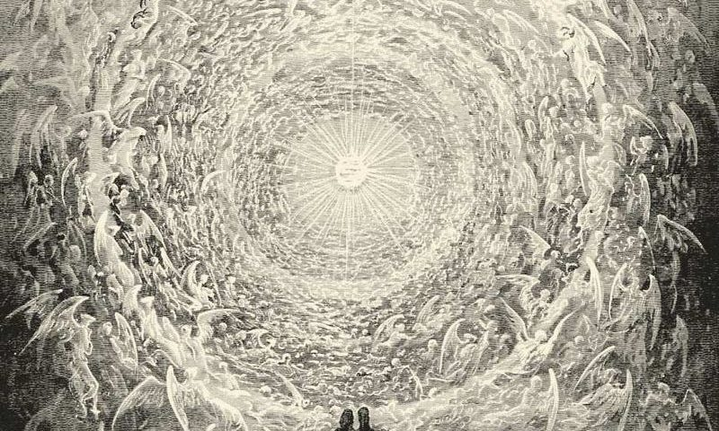 Gustave Dorén kuvitusta Danten Jumalalliseen näytelmään. Kuva: Wikipedia.