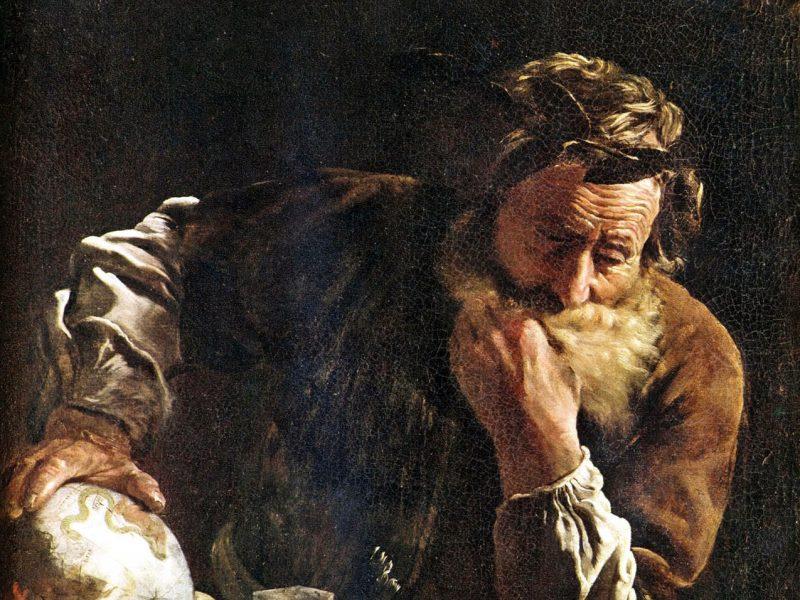 Domenico Fetti: Mietteliäs Arkhimedes vuodelta 1620. Kuva: Wikipedia.