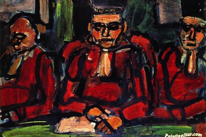 Georges Roualtin maalaus Kolme tuomaria.